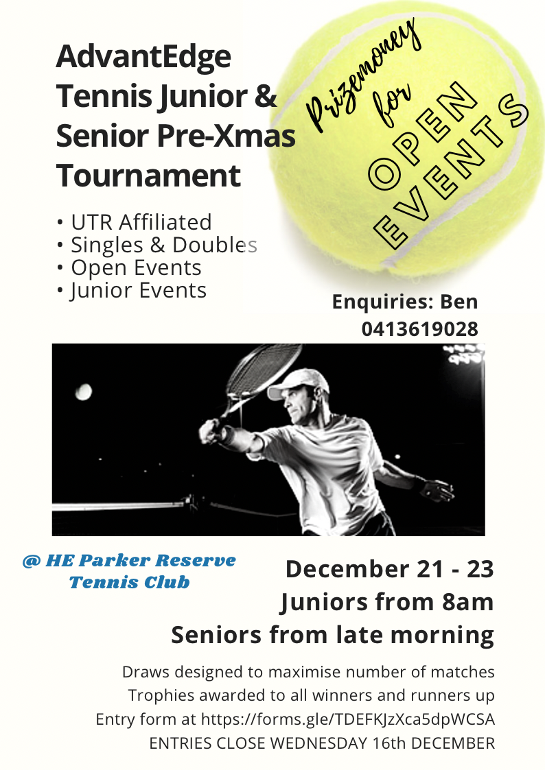 AdvantEdge Tennis Pre-Xmas Tournament